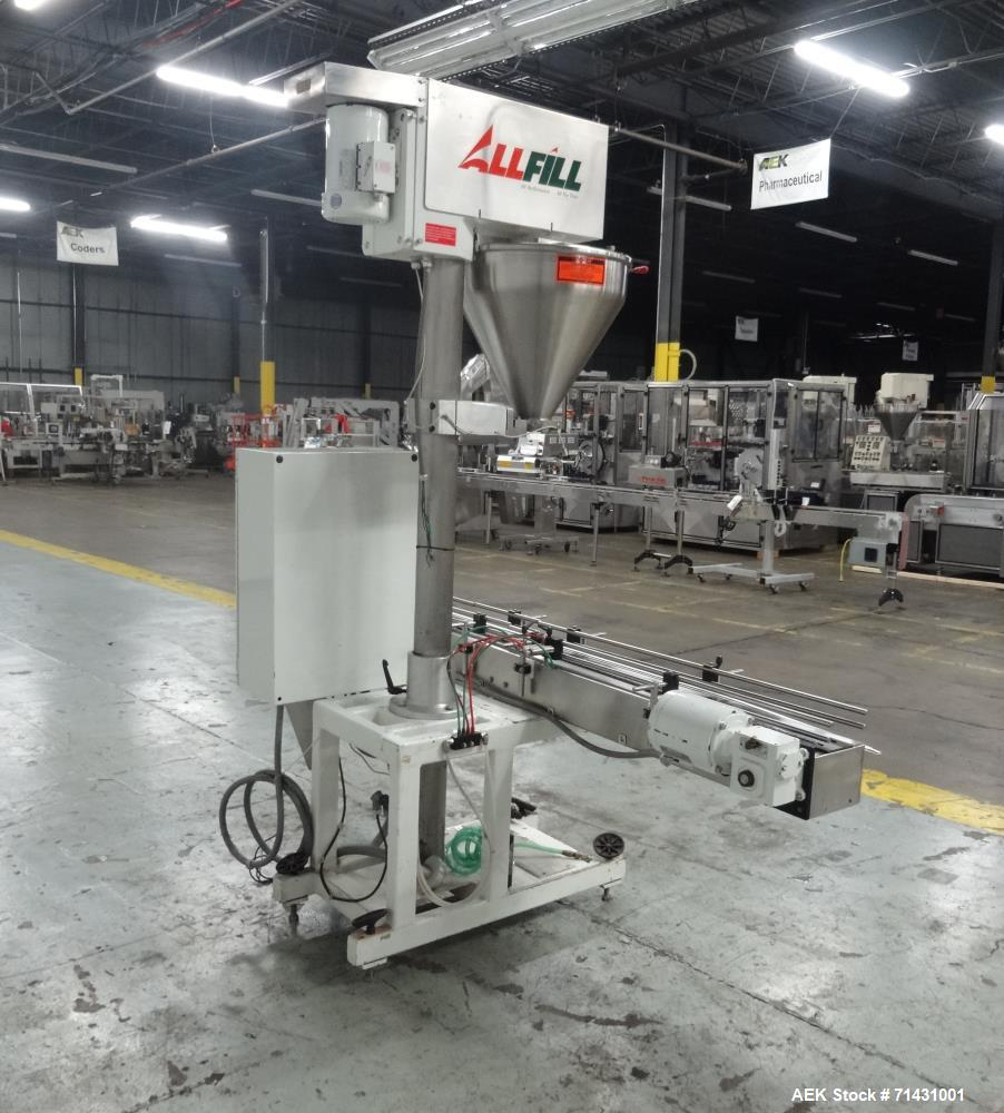 Used- All Fill Model SHAA-600 Single Head Automatic Inline Auger Filler.