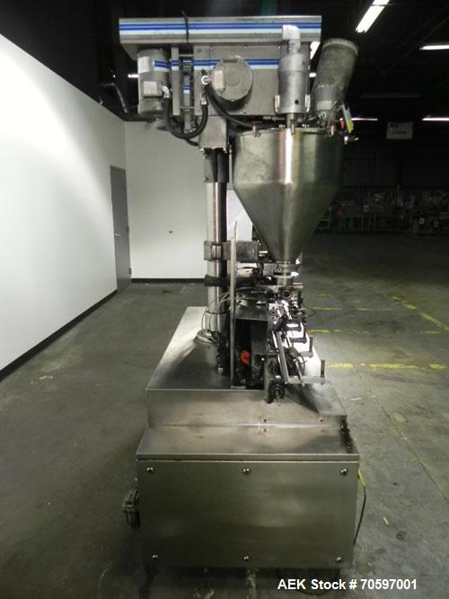 Used-Mateer Burt (Pneumatic Scale Angelus) Model Neotron Dual Head Auger Filler