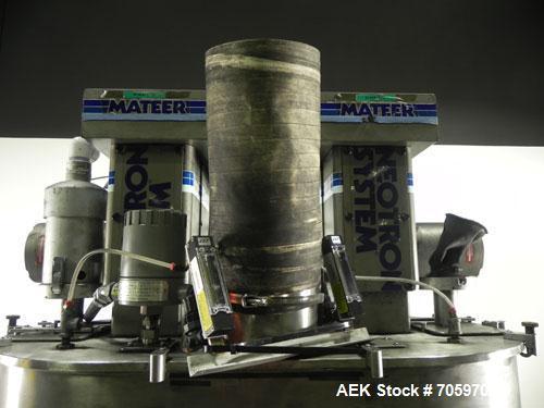 Used-Mateer Burt (Pneumatic Scale Angelus) Model Neotron Dual Head Auger Filler