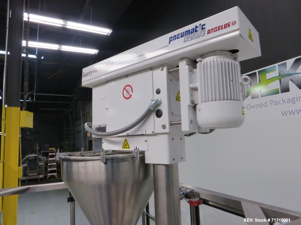 Used- Pneumatic Scale Angelus (Mateer) Model W6600 Rotary Powder Auger Filler