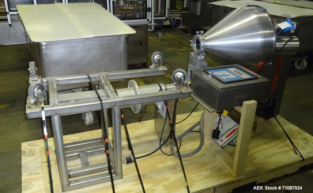 Used-All-Fill Model Cerebus III Powder Auger Filling Head. Stainless steel construction.