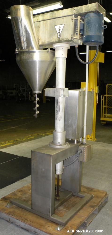 Used- Stainless Steel AMS Semi-Automatic Single Head Auger Filler, Model A-110