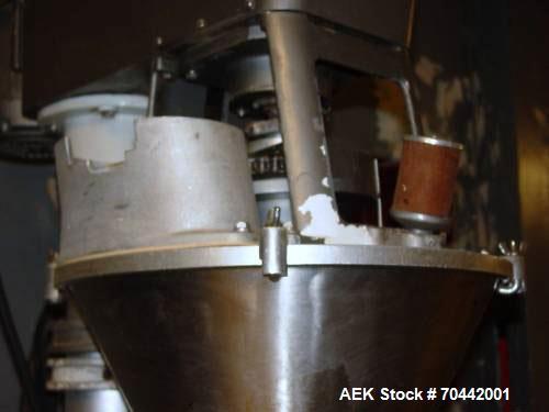 Used-Bartlet Model D Semi-Automatic Auger Filler. Has agitated hopper, level sensor and is pedestal mounted. 3/60/230V.