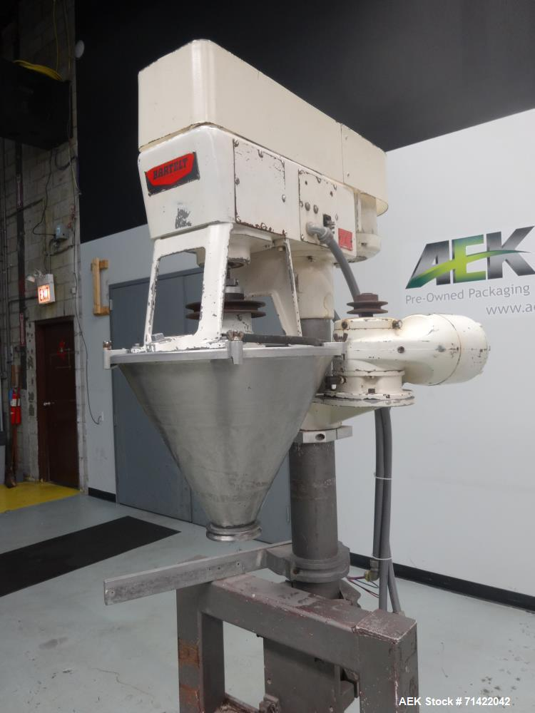 Used- Bartelt Model D Semi Automatic Powder Auger Filler