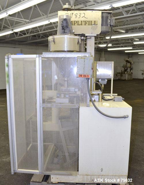 "Used- Curtis Packaging Machinery Service Model Simpli Fill Powder Auger-Filler. 18"" Diameter x 6-1/2"" straight side x 14"" co..."