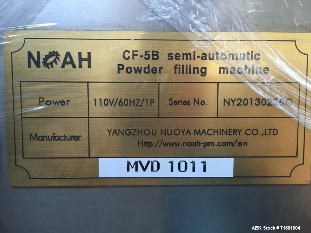 Used- Noah Model CF-5B Semi-Automatic Powder Auger Filler