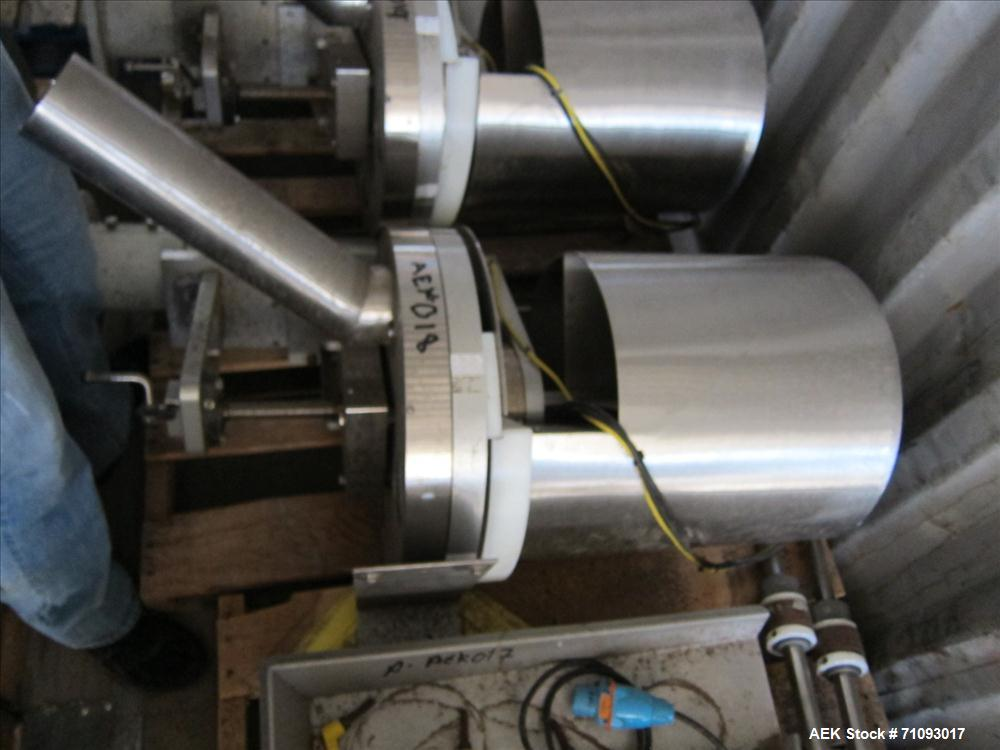 Used-All-Fill Model VC-SV-6 Volumetric Cup Filler. 4-pocket rotary head. Stainless steel construction. 3/60/220V. S/N: VC-132