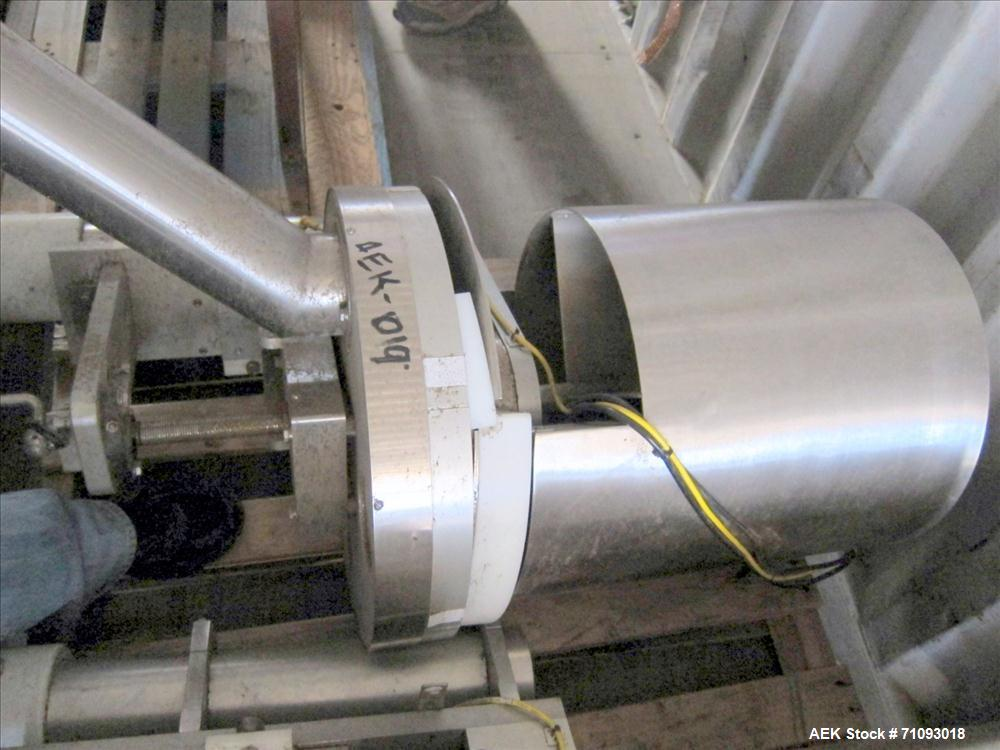 Used-All-Fill Model VC-SV-6 Volumetric Cup Filler. 4-pocket rotary head. Stainless steel construction. 3/60/220V.