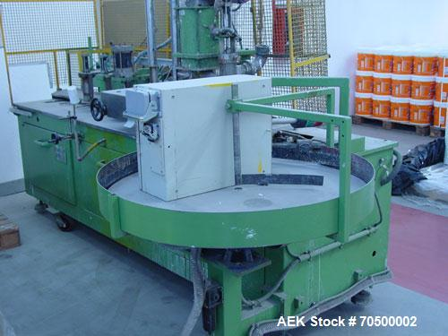 Used-Comaco ACR DW 5200 Dosing Machine.  Maximum output 25 cans/minute, 220V, pneumatic commands, product dosing cylinder, t...