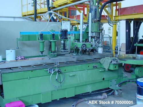 Used-Comaco ACR RSPP Dosing Machine.  Maximum output 20 cans/minute, 220V, pneumatic commands, product dosing cylinder, turn...