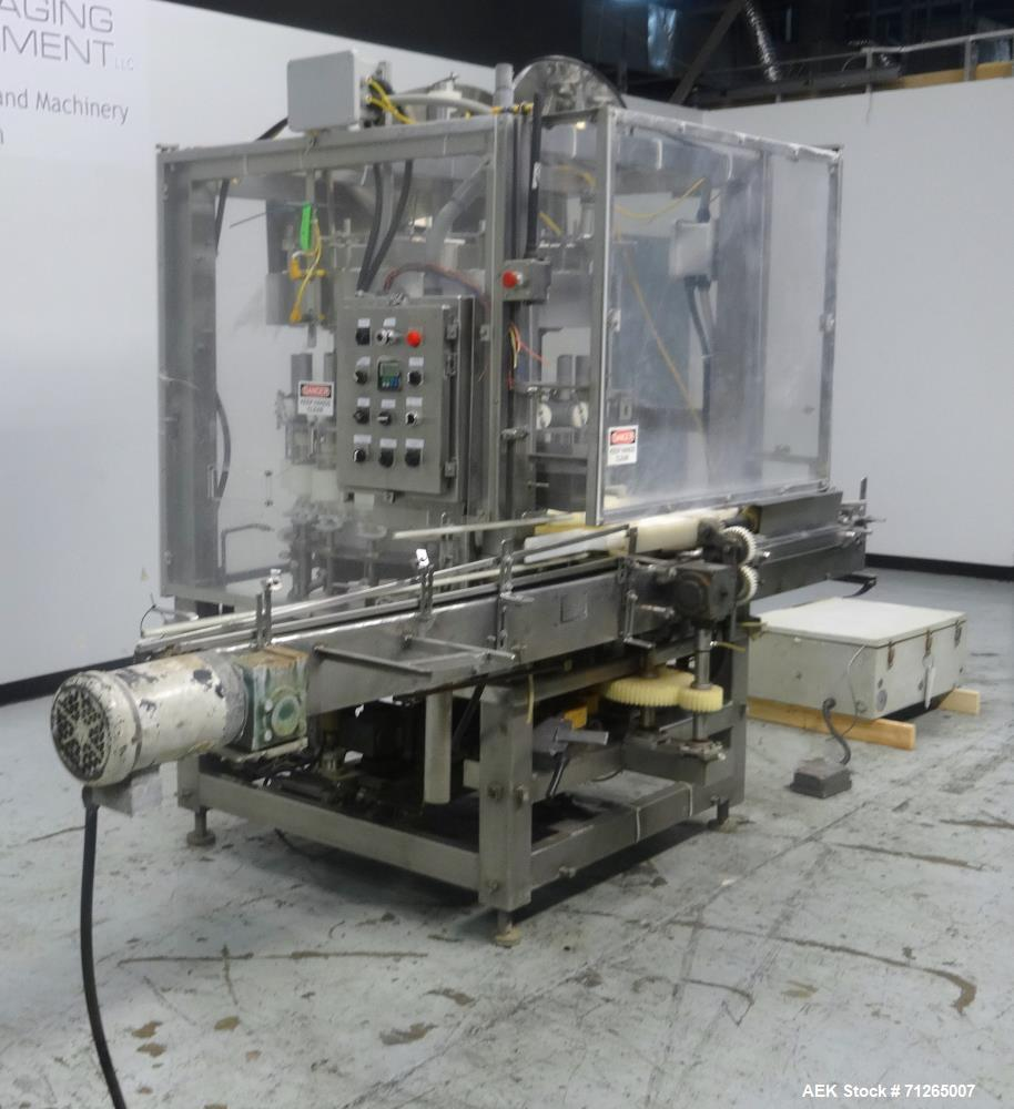 Used- Nicro-Tech Inc Model NTS-18 Rotary Volumetric Filler
