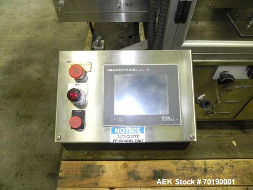 Used- M&O Perry Model E1200 Vacuum Powder Filler. Capable of speeds up to 150 vial containers per minute. Container size ran...