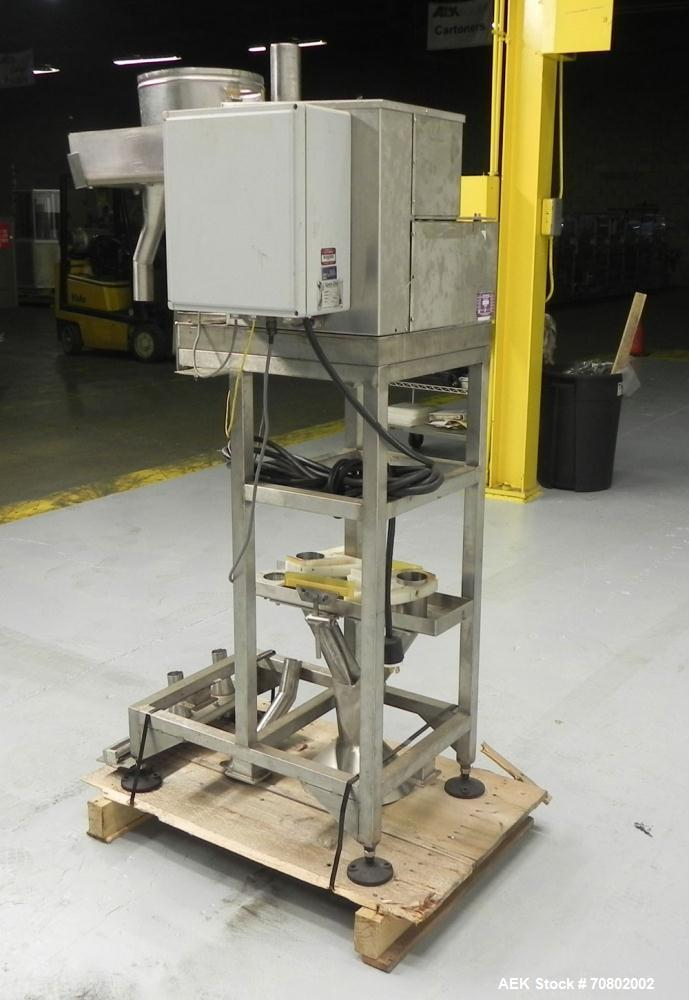 Used- Spee Dee Model CH8ME-198 Volumetric Cup Filler. Has all stainless steel 1.5 cubic foot hopper. Cup size range:  diamet...