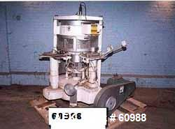 Used- FMC 6 Head Rotary Piston Filler capable of up to 150 cpm (depending on size). Has can size range: 202-404 dimeter x 10...