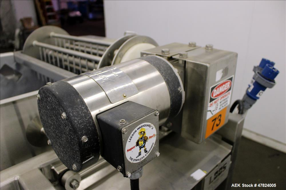 Used- Loos Machine & Automation Waterfall Type Applicator, 304 Stainless Steel.
