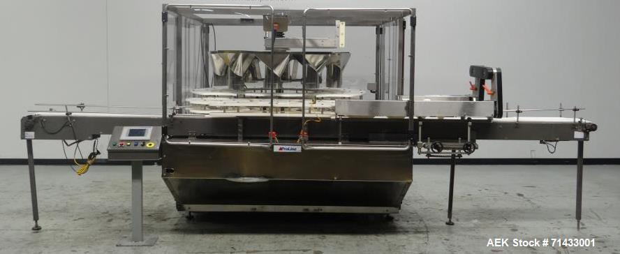 Used- Triangle Packaging Model RFC48/10 Rotary Container Indexer for Filling