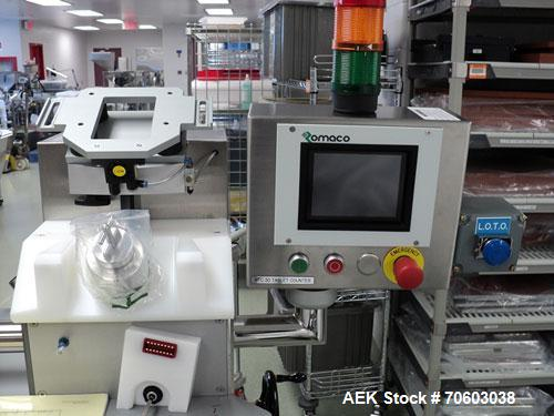Used- Romaco Rotary Tablet Counter, Model Bosspack RTC-30, rated up to 30 cpm on 100 count bottoles, dual counting stations,...