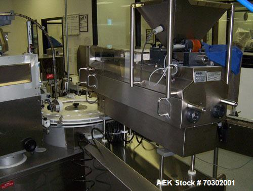 Used-Kalish Monocount Tablet Fller.   Monocount unit consists of Kalish 4 track tablet/capsule filler, cotton inserter, desi...
