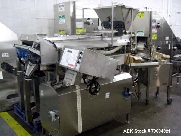 Used- Swiftpack Kalish electronic counter, model SPC8PD, stainless steel construction, 16 lane, two step, feed hopper, 120 v...