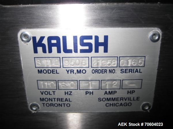 Used- Kalish Swiftpack Model SPC 8PD Electronic Tablet Counter.  Unit has 8 tracks, dual discharge and is a three tray desig...