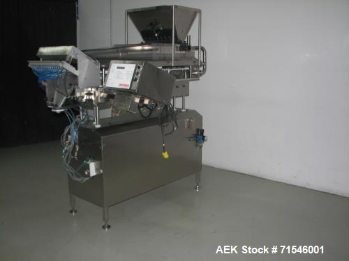Used- Kalish (DT Kalish or IMA) Swiftpack Model SPC8PD Electronic Tablet Counter. Two tray system with 16 channels and bulk ...