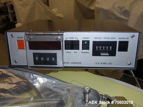 Used- King Model TB4 Semi-Auto/ Automatic Table Top Tablet Counter.