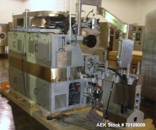 Used- Aylward Model DL530 Dual Lane Tablet/Capsule Bottle Filler