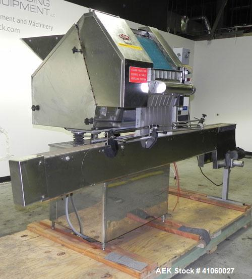 "Used- King SC6L Tablet or Capsule Slat Counter. Capable of speeds up to 120 bottles per minute. Has pin indexing with 4"" wid..."