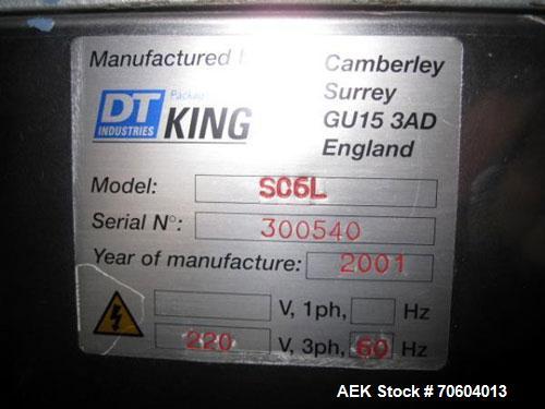 Used- King SC6L Slat Counter or Tablet / Capsule Filler capable