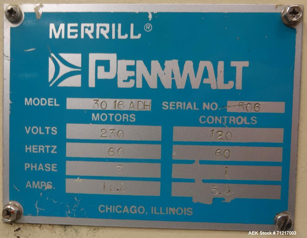 Used- Merrill Model 30-16 ADH Slat Counter
