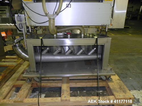 Used- Merrill Model 40-39ADH Dual Lane Slat Counter. Machine is rated at up to 300 (100-count bottles per minute). Machine i...