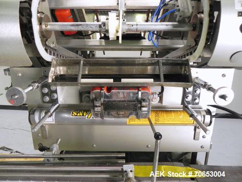 Used- Merrill-Pennwalt (IMA) Model 72-16A Slat Counter capable of speeds up to 150 containers per minute. Has pin indexing s...