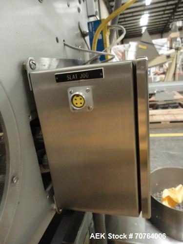Used- Merrill 72-39A Dual Lane Slat Counter.