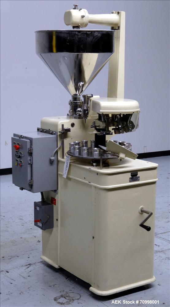 Used- Kalix Model KX-1414 semi-automatic Metal Tube Filling Machine