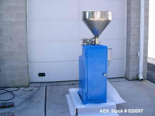 USED: Kalix model RV-7 tube filler. Includes pump for products up to approximately 150,000 cps, double reverse saddleback cr...