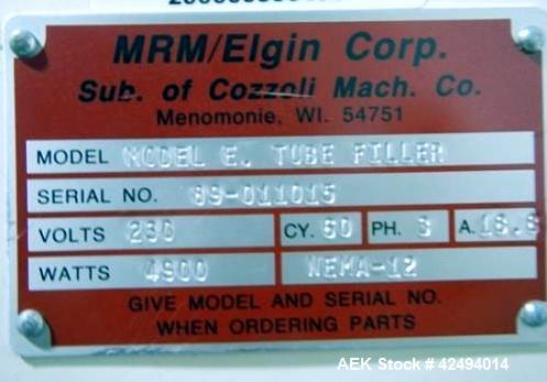 Used- MRM Elgin Model E Metal Tube Filler and Sealer