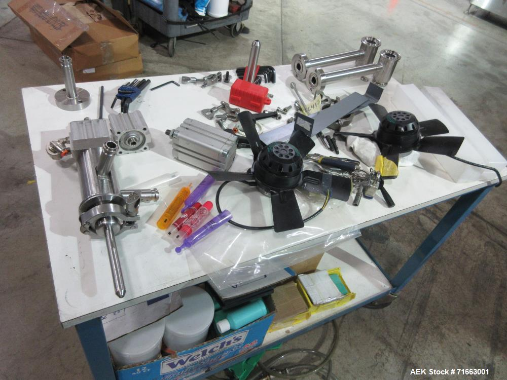 Used- Axomatic Model Optima 2400S Automatic Hot Air Plastic Tube Filler
