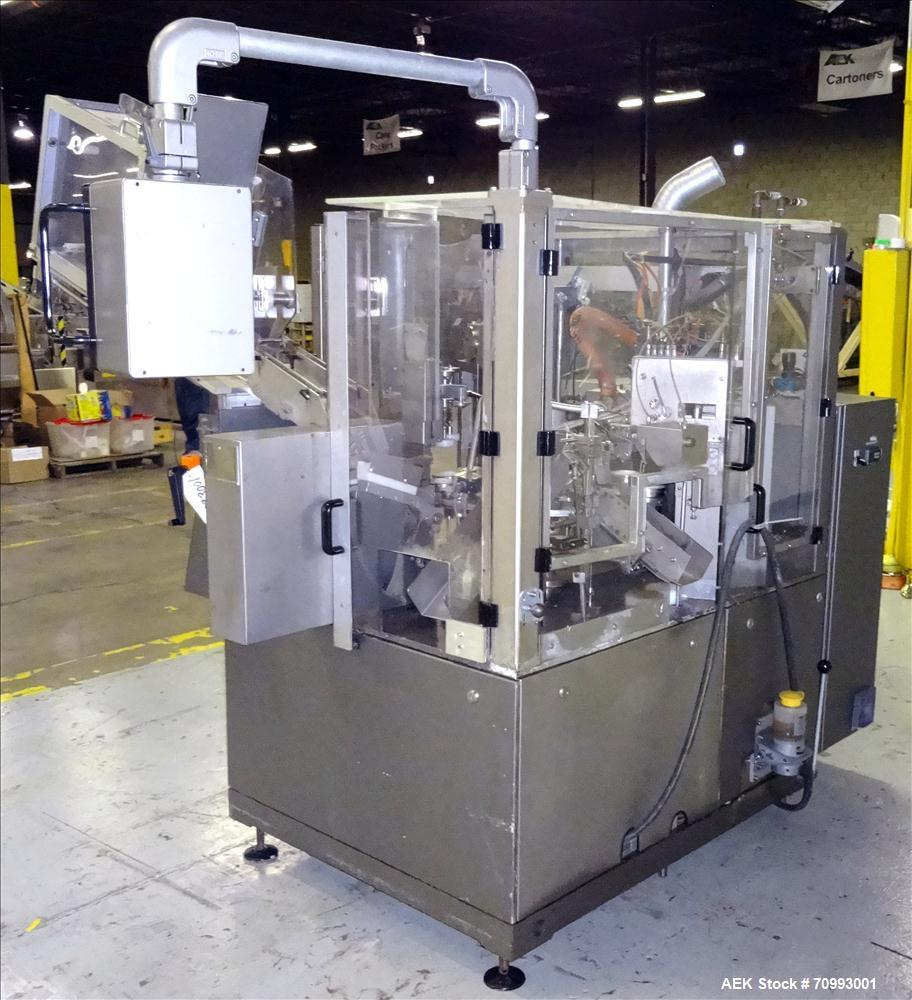 Used- IWKA Model TFS 20-M Hot Air Tube filler. Capable of speeds from 40-120 tubes per minute. Includes Cassette Tube in fee...