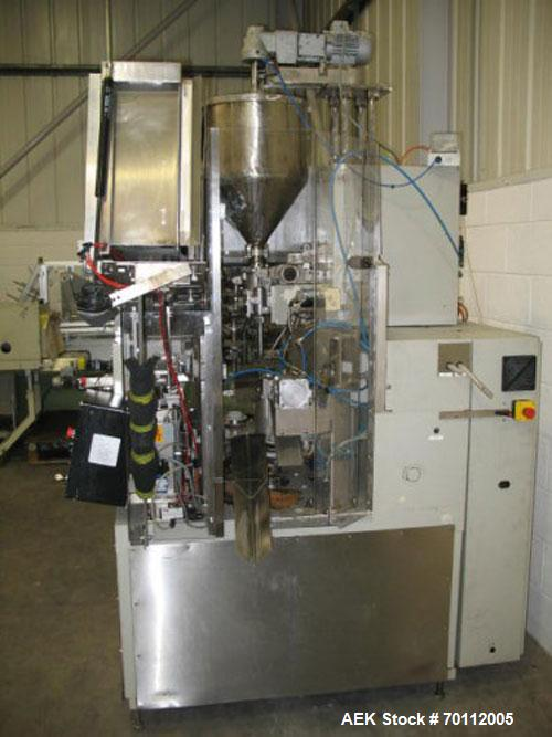 Used-IWKA TU 100 Plastic Tube Filler, equipped with hot jaw sealing