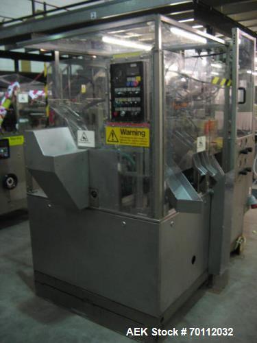 Used- IWKA Plastic/Laminate Tube Filler, Model TU 200. IWKA TZ101 automatic tube feeder; speeds of up to 250 tubes per minut...