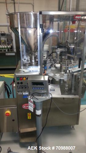 Used- Kalix, Model KX600 Hot Air Plastic Tube Filler, type KXE. Sanitary design, rated up to 60 tubes per minute. Single hea...