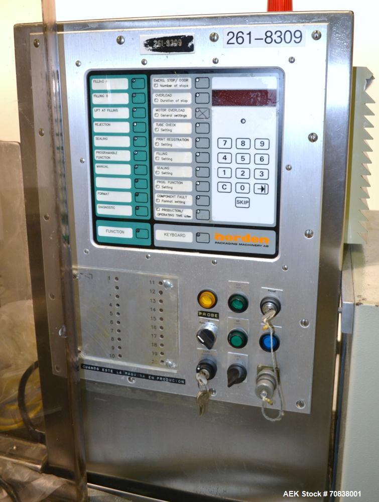 Used- Norden Dual Head High Speed Tube Filler, Model NM 2000 HF