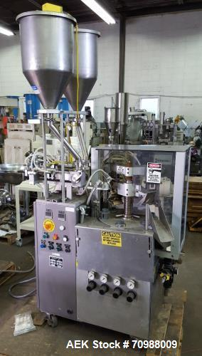 Used- Prodo Pak Model T-30 PLastic Tube Filler. Stainless steel construction. Dual piston head fill, bottom up fill, heated ...