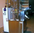 Used-Prosys Model HB RT60H Hot Air Plastic Tube Filler.  Single head servo rotary filler micro-dose applications, volume ran...