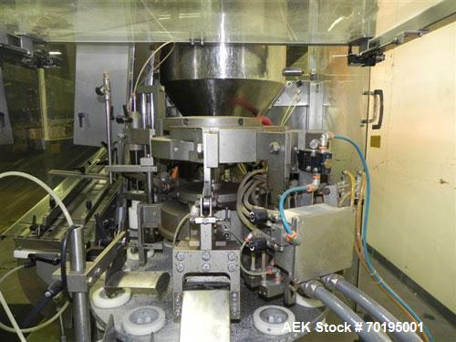 Used- Unipac Model Silver 120 Plastic Tube Filler. Machine is capable of speeds up to 120 tubes per minute. Has a tube size ...