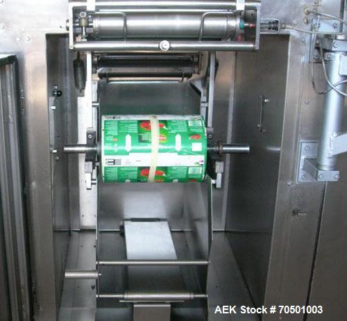 Used-Aseptik AB3-1000 Tetrapak Line.  Maximum output 3650 packs/hour, main motor 2.9 hp (2.2 kW), 1420 rpm, built 1998.