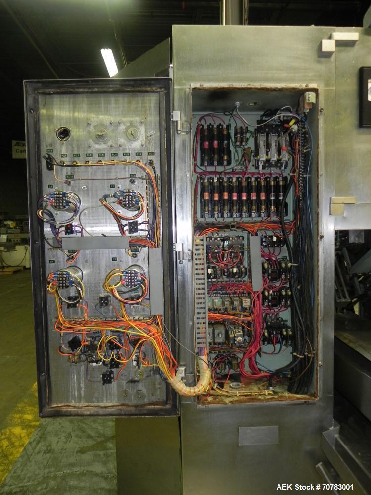 Used- Cherry Burrell / Evergreen Q7 Gable Top Form fill seal carton filling machine, Model Q-7, Serial #4173, Handles 1/2 Pi...