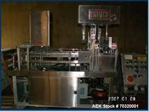 Used-Nimco Form & Fill Machine, Model 501, set up on pints. Last running dry cereal.