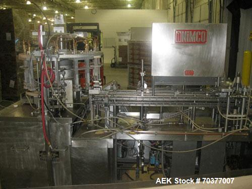 "Used-Nimco 5110E Gable Top Form Fill and Seal Machine, all stainless steel.  Transport chains set on 2-1/2"" centers.  Dual c..."
