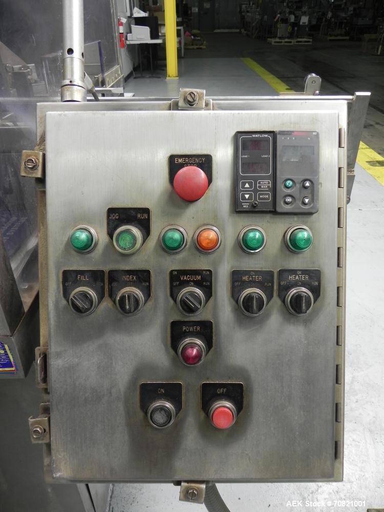 Used- Nimco Model 565E Gable Top Carton Former and Sealer